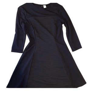 H&M black fit and flare dress